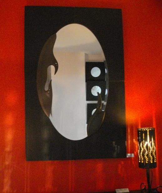 Miroirs en ardoise for Miroir vague